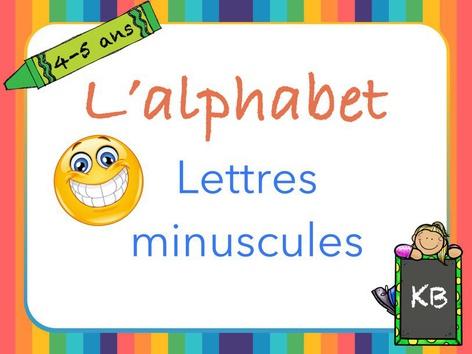 L'alphabet en minuscules by Karine Bazinet