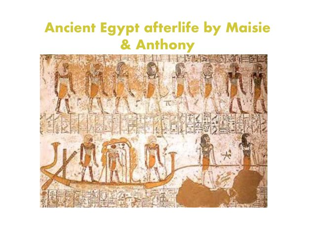Egyptian Afterlife Game By Maisie & Anthony by St Cecilias