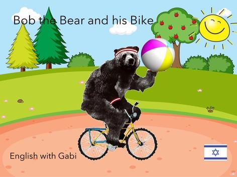 Bob the Bear and his Bike by English with Gabi אנגלית עם גבי