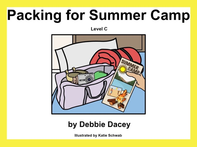 Unique summer Unit: Packing For Summer Camp by Tanya Folmsbee