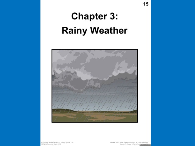 April Unique Unit Chapter 3: Rainy Weather  by Tanya Folmsbee
