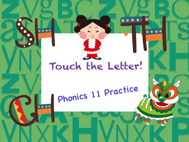 Touch The Letter Phonics 11 practice by Tony Bacon