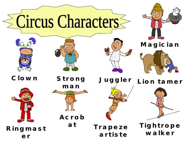 """I Want To Be """"circus Character """".  by Ann Leverette"""