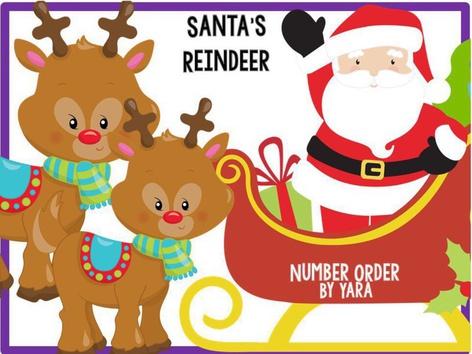 Santa's Reindeer - Number Order To 10 (EN UK) by Yara Habanbou