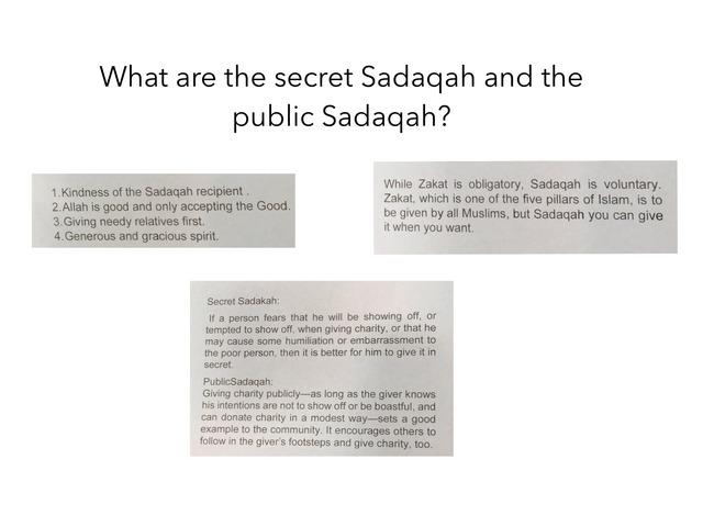 Y3 Sadaqah by Ali Gomaa