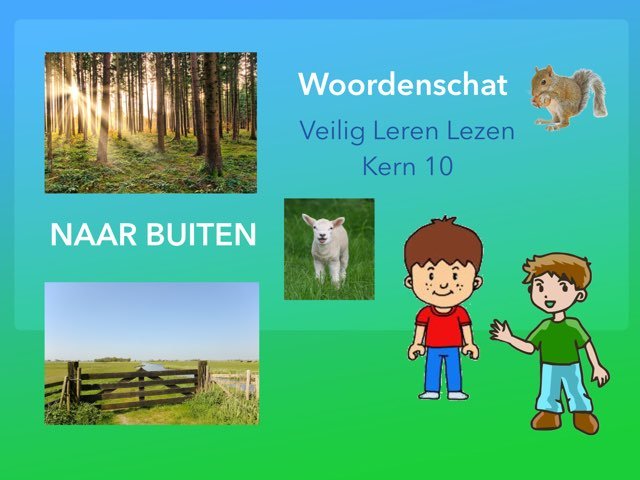 Woordenschat - Naar Buiten - VLL Kern 10 by Annemiek Schokker