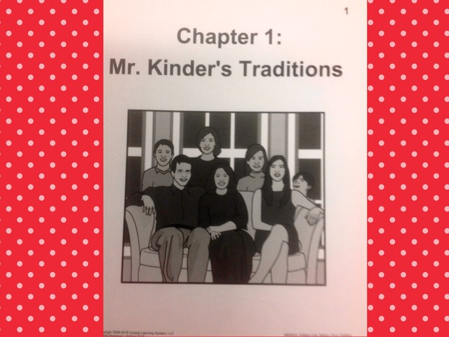 December Unit: Mr. Kinder's Tradition - Reading  by Tanya Folmsbee