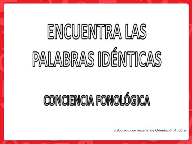 Encuentra Las Palabras Idénticas by Zoila Masaveu