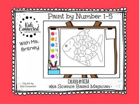 Paint By Number 1-5 Fish by Kids  Connected