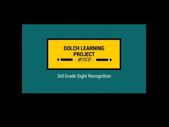 Sign ID 1: Dolch 3rd Grade by TSD Library
