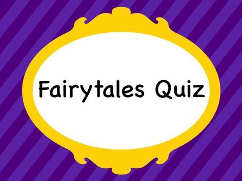 Fairytales Quiz by MsDébora