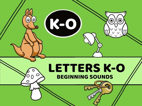 Letters K-O Beginning Sounds by Cici Lampe