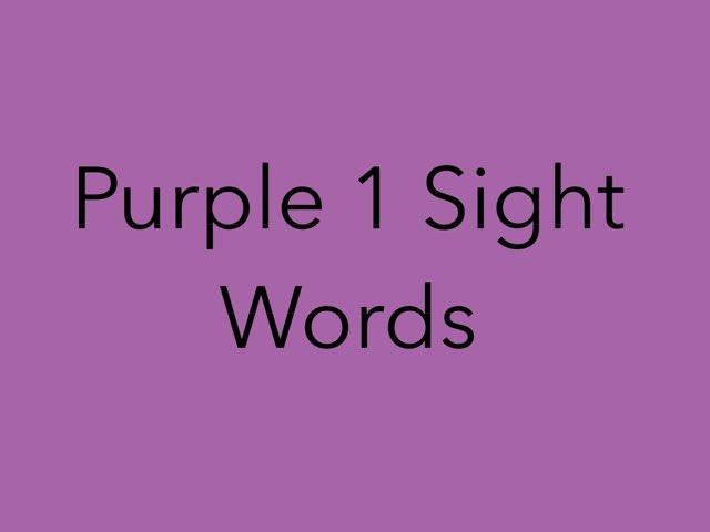 Purple 1 Sight Words. No 5 by Sonia Landers