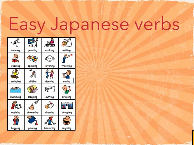 Easy Japanese Verbs by darlene knowles