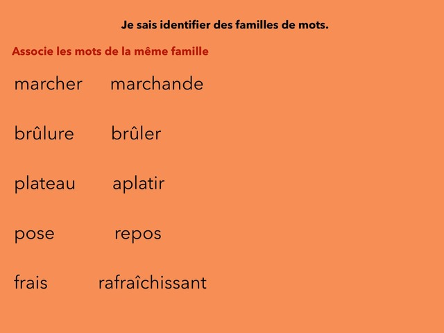 Vocabulaire Ceinture  Orange  by Mathieu Larramendy