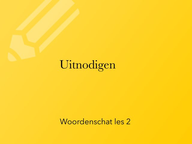 Woordenschat Les 2 by Jan Knuivers