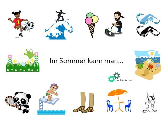 Im Sommer kann man .... by Marina Ruß