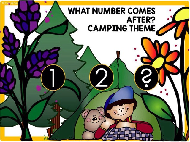 Number Order 1-20 Camping Theme by Yara Habanbou