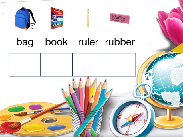 School Things - Alphabet - Assisted Spelling by Teeny Tiny TEFL
