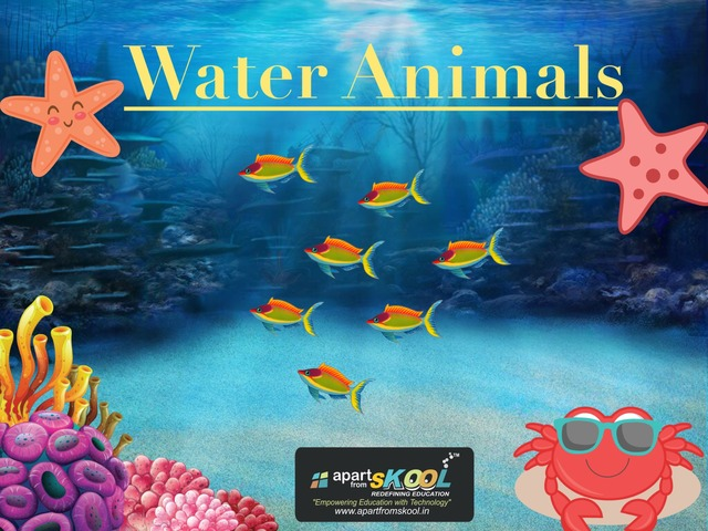 Water Animals by TinyTap creator
