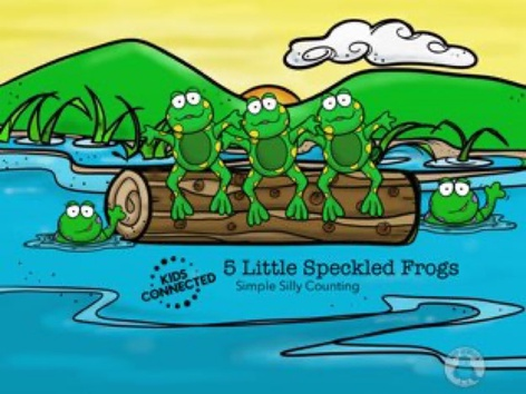Simple Silly Counting: 5 Speckled Frogs by Kids  Connected