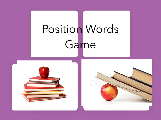 Position Words Game by Natalie Hamilton