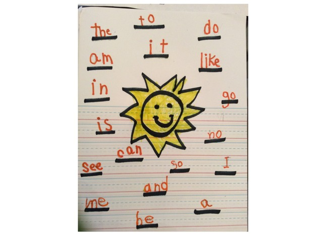 Sunshine game by Frazzled Teacher