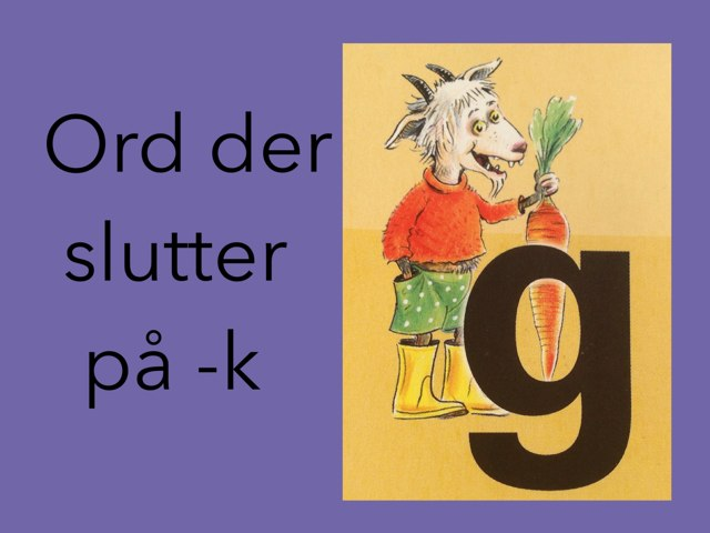 Udtale af -k by Dorte Eriksen