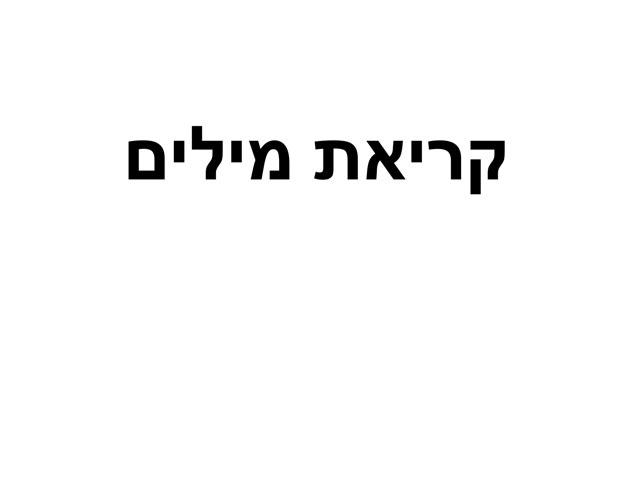 קריאת מילים by Talia Menahem