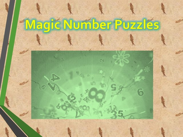 Magic Number Puzzles by Sam Kwan