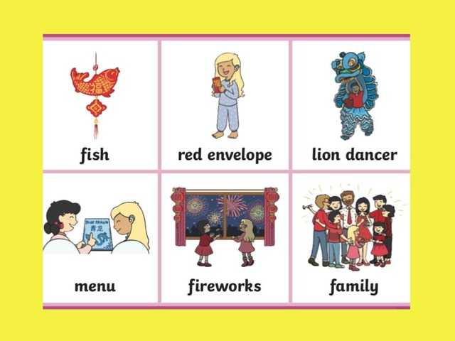 Chinese New Year Word Match by Deborah Fletcher
