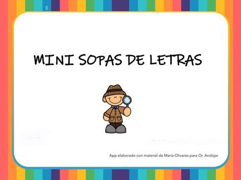 Mini Sopas De Letras by Zoila Masaveu