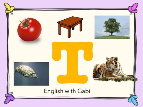 Letter T: Learning Letter Sounds  by English with Gabi אנגלית עם גבי