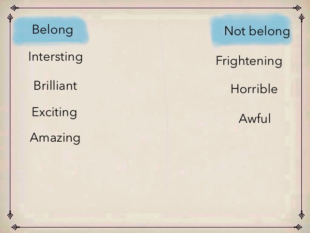 Positive/ Negative Adjectives by Manal Al-otaibi