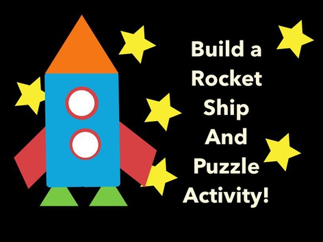 Build A Rocket Ship And Puzzle Activity by Nancy McCall