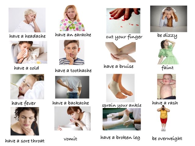 Health Vocabulary  - Health Problems by Eva Jay