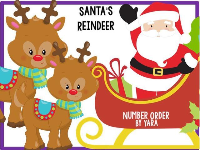 Santa's Reindeer - Number Order To 10  by Yara Habanbou