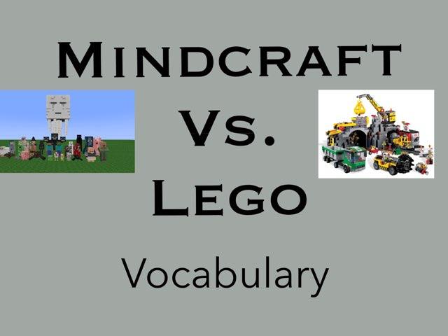 Minecraft Vs Lego Vocabulary  by Karen Souter