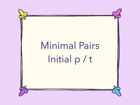 Minimal Pairs p / t by Sue Hart