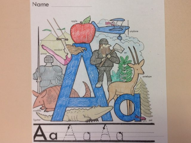 The Letter A by Christine Snow