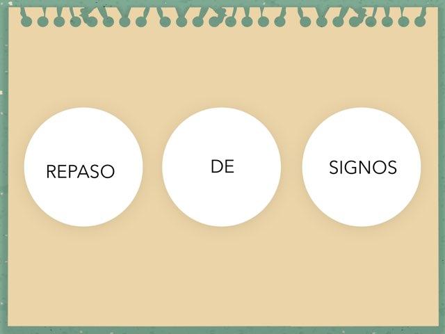 Repaso De Signos  - LUISCO by Zoila Masaveu