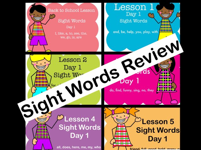 Sight Words Review - Back To School Lesson - Lesson 5 by Jennifer