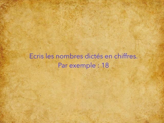 Dictée de nombres CE1 (2) by CM Humbecourt