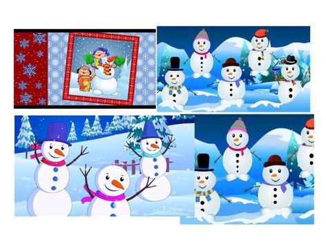 Snow Man by Malka Traub