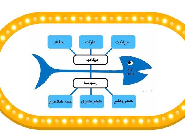 مخطط السمكة انواع الصخور  by Emee Al Khashti