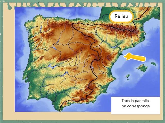 Península Ibèrica mapa físic by Begonya Mira