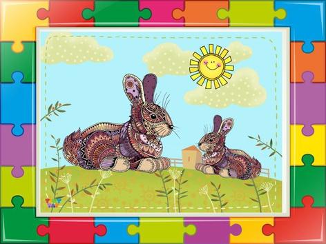 The Rabbit Puzzle  2 by Liat Bitton-paz