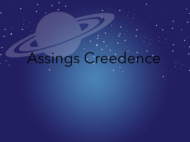 Assings Creedence by Ilyas Willems