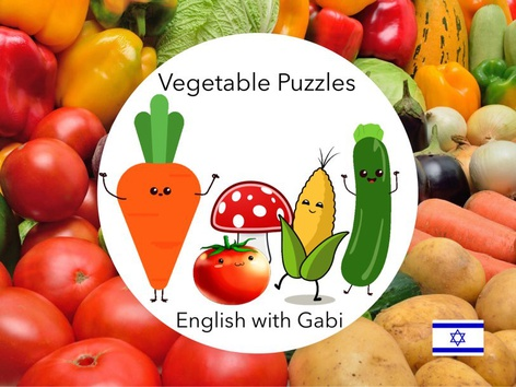 Vegetable Puzzles- ירקות באנגלית  by English with Gabi אנגלית עם גבי