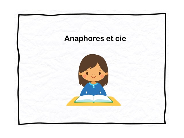 Anaphores Et Cie by Olivier Co
